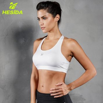 Sports Top Bra Padded Push-Up Breathable Fitness Sexy Yoga Bars Removable Pads Workout Gym Running Sport Brassiere Sport Top