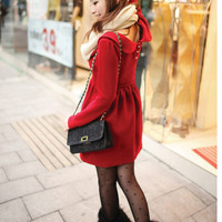 New Arrival Red Warm Girls Winter Dresses : Wholesaleclothing4u.com