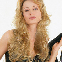 """22"""" Long Wavy Layered Synthetic Wigs for Women Blonde"""