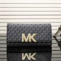 MK 2017 Pure elegant leather printing wallet purse bag [53052506124]