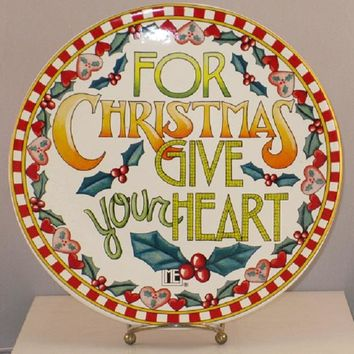 Mary Engelbreit For Christmas Plate-PMENGB
