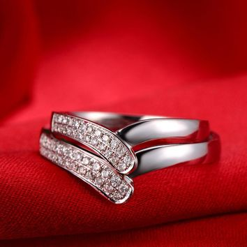18ct Gold Diamond Couple Set Rings Wedding Bands Engagement Rings for Men Women Free DHL Shipping