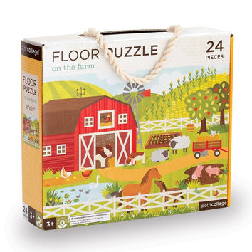 Petit Collage On the Farm Floor Puzzle
