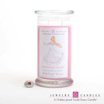 Happy Birthday Princess Jewelry Greeting Candles