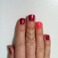 3 Stackable Above the Knuckle Rings: Mix and Match any 3