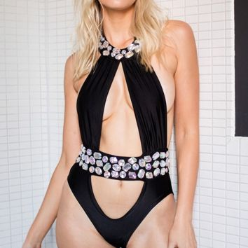 Gems Cut Rare Swim Suit