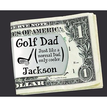 Golf Dad Personalized Money Clip | Dad Gift