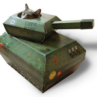 Cat Playhouse Cardboard Tank   Cat Toys and Scratching Posts   Cat Products   Omlet