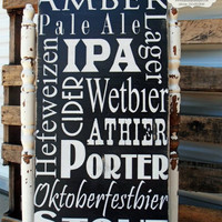 Man Cave Sign,  Beer Sign, Bar Sign, Pub Sign, Vintage Bar Sign, Rustic Sign, Wedding Gift, Grooms Gift 12x24