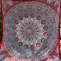 BIG indian mandala psychedelic star tapestry hippie wall hanging bohemian boho bedding throw bedspread ethnic home decor art