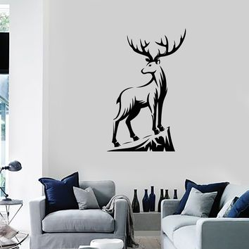 Vinyl Wall Decal Deer Hunting Club Shop Animal Tribal Art Decor Stickers Mural (ig5381)