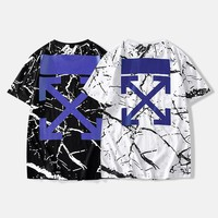 hcxx 306 Off White New Crackle cotton Short Sleeve T-Shirt