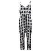 Buy True Decadence Square Print Jumpsuit, Black Square online at John Lewis