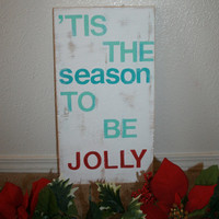 Custom Made Wooden Christmas Holiday Decor Signs