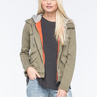 Billabong Wishing For Womens Jacket Olive  In Sizes