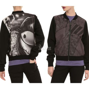 Licensed cool Disney The Nightmare Before Christmas Love Story Bomber Jacket  Juniors L & XX