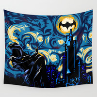 Starry Knight iPhone 4 4s 5 5c 6, pillow case, mugs and tshirt Wall Tapestry by Three Second