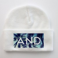ANDCLOTHING — White Palm AND Beanie