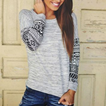 Ethnic Long Sleeve T Shirt