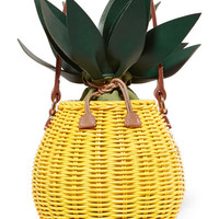 Kayu - Colada leather-trimmed wicker tote