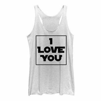 Juniors Star Wars I Love You Box Tank Top