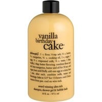 Vanilla Birthday Cake 3-in-1 Shampoo, Body Wash, and Bubble Bath
