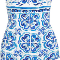 Dolce & Gabbana - Printed underwired swimsuit