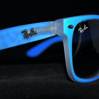 Rare Print Wayfarer Sunglasses Fancy Color Blue from Eye fashion