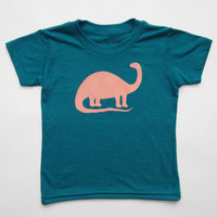 Brontosaurus Kids Short Sleeve Tri-Blend Tee