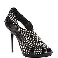 Burberry - Brit Rhythm Studded Leather Sandals - Saks Fifth Avenue Mobile