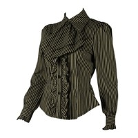 Steampunk Cotton Stripe Blouse