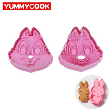4 Set/Lot Hello Kitty Cookie Cutter Press Biscuit Cake Mold Cartoon Baking Pastry Cooking Kitchen Gadgets Accessories Supplies