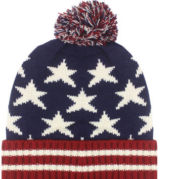 patriotic knitted winter hat Case of 72