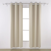 Room Darkening Thermal Insulated Blackout Grommet Window Curtain Panels Set