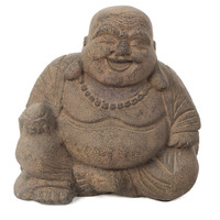 White Sand Laughing Buddha, Figurines & Animal Figures