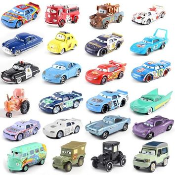 Disney Pixar Cars 2 Storm Cars 3 Mater Vehicle 1:55 Diecast Metal Alloy Toys Model Car Birthday Gift For Kids 27 Style