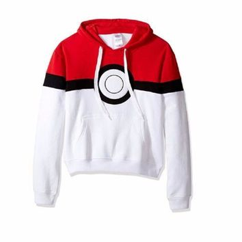 Pokemon Pokeball Adult Pull Over Hoodie