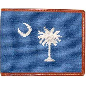 South Carolina State Flag Needlepoint Wallet in Palmetto Blue by Smathers & Branson