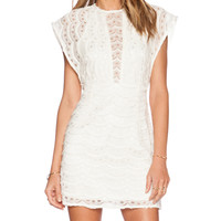 Delia Dress in Ivory Lace