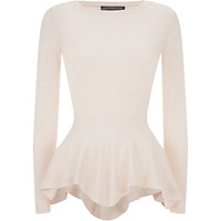 Alexander McQueen Peplum Sweater in Pink | Harrods