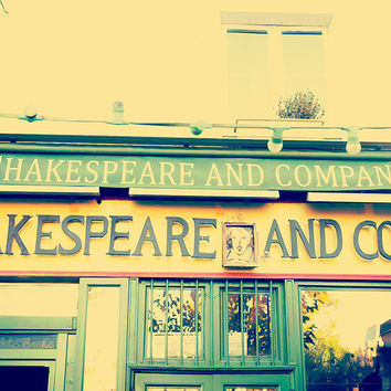 Paris Famous Shakespeare & Co Booksellers Fine Art Photography Print