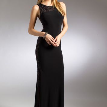 Beaded Illusion Side and Back Dress