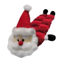 Plush Puppies Santa Squeaker Long Mat for Dogs | Holiday Plush and Latex Toys