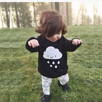 crochet baby sweaters INS HOT Baby Girl Boy Sweaters kids cloth Long Sleeve Clouds Rain Knitted Lovely Children Top Clothes kids pullover