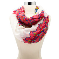 AZTEC PRINTED INFINITY SCARF