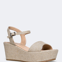ANKLE STRAP LOW WEDGE