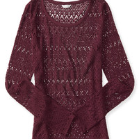 Long Sleeve Sheer Lace Layering Tee