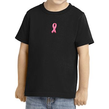 Buy Cool Shirts Breast Cancer Toddler T-shirt Embroidered Ribbon Small Print
