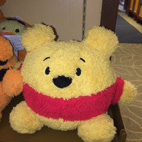 "disney parks authentic 8"" winnie the pooh soft round plush pillow new with tags"