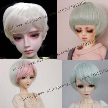 1 piece 15cm x 100cm curly doll wigs hair for 1/3 1/4 1/6 BJD SD diy brunette blonde